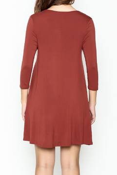 Zenana Outfitters Rust Tunic Dress - Alternate List Image