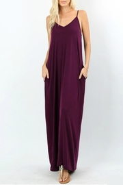 Zenana Pheobe Plum Maxi - Product Mini Image