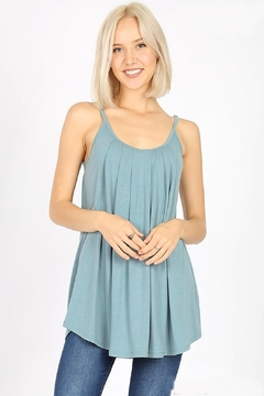 Zenana Pleated Spaghetti-Strap Cami - Product List Image