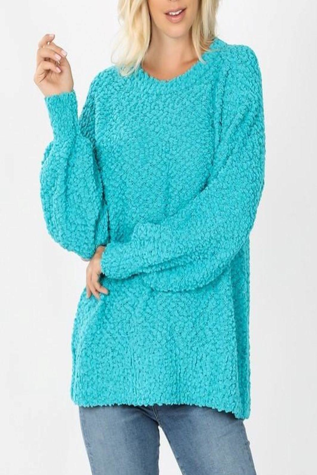 Zenana Popcorn Bubble Sweater - Main Image