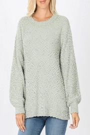 Zenana Popcorn Bubble Sweater - Front cropped