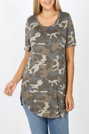 Zenana Soft Camo Top - Product Mini Image