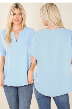 Zenana Spring Blue Top - Product List Image