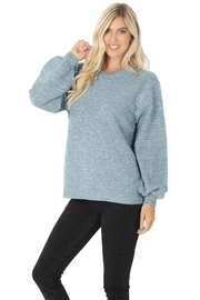 Zenana Stand Still Sweater - Front cropped