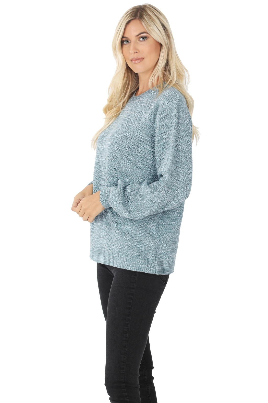 Zenana Stand Still Sweater - Front Full Image