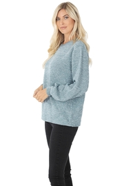 Zenana Stand Still Sweater - Front full body