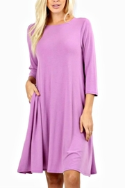 Zenana Thea Mauve Dress - Product Mini Image