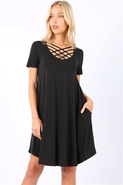 Zenana Triple Lattice Dress - Product Mini Image