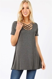 Zenana Triple Lattice Top - Front cropped