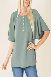 Zenana Waterfall Sleeve Top - Product Mini Image
