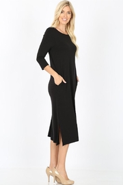 Zenana Outfitters Black Comfy Midi - Product Mini Image