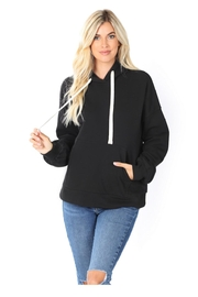 Zenana Outfitters Black Hoodie - Front cropped