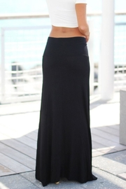 Zenana Outfitters Black Maxi Skirt - Side cropped