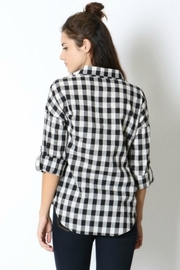 Zenana Outfitters Black & White Flannel - Front full body