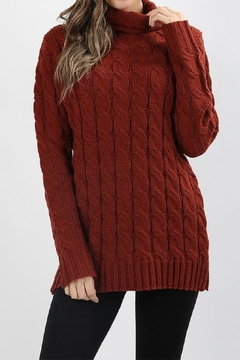 Shoptiques Product: Cable-Knit Turtleneck Sweater