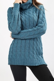 Zenana Outfitters Cable-Knit Turtleneck Sweater - Product Mini Image
