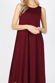 Zenana Outfitters Comfy Anywhere Sleeveless Midi - Front cropped