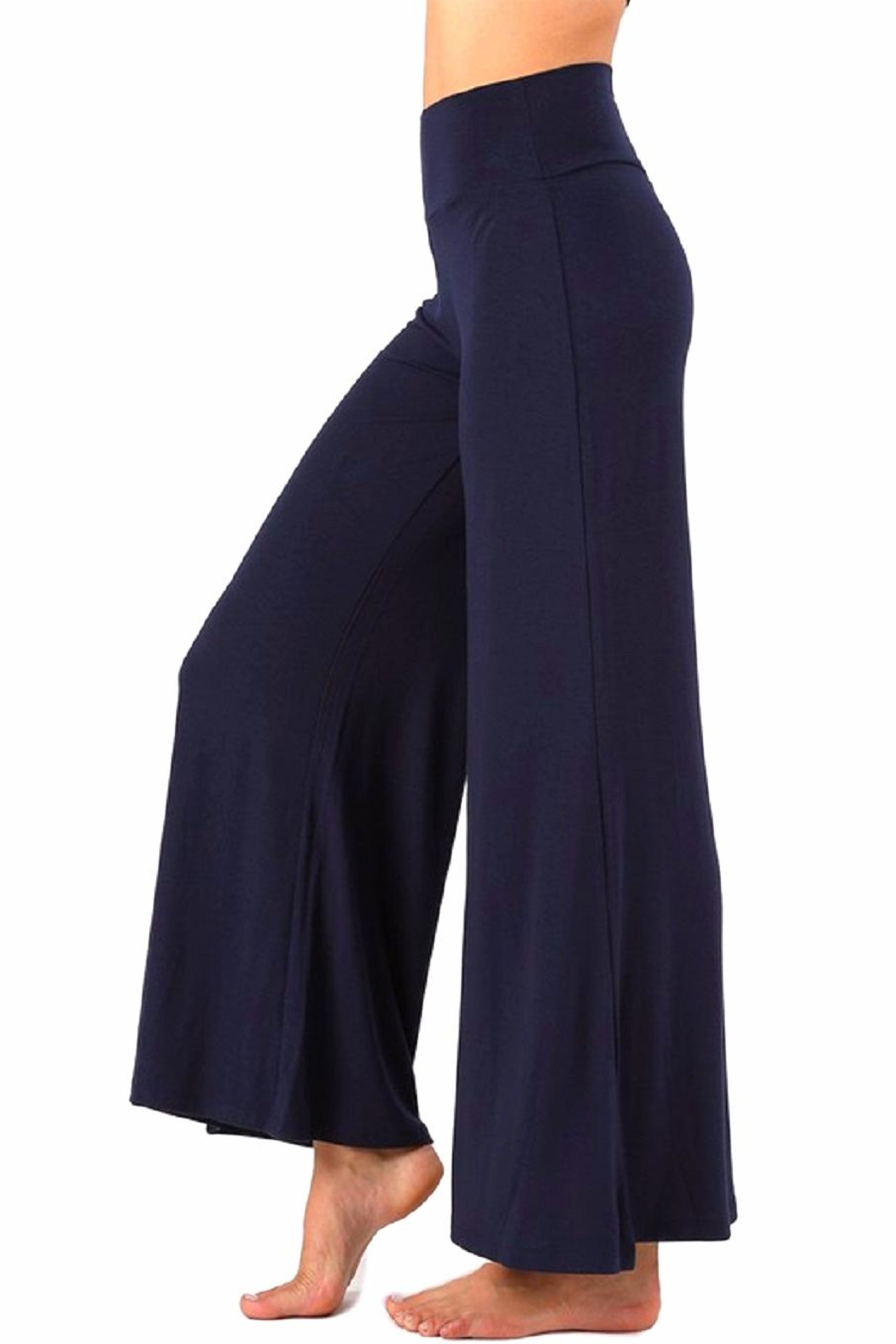 Zenana Outfitters Comfy Palazzo Pants - Front Cropped Image