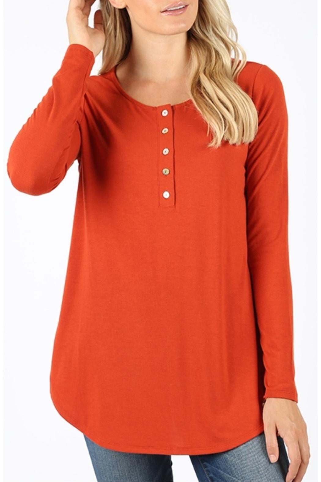 Zenana Outfitters Copper Long Sleeve - Main Image