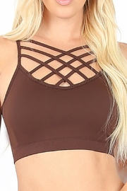 Zenana Outfitters Criss-Cross Bralette - Front cropped