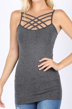 Zenana Outfitters Criss-Cross Tank Top - Product List Image
