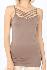 Zenana Outfitters Criss-Cross Tank Top - Product Mini Image