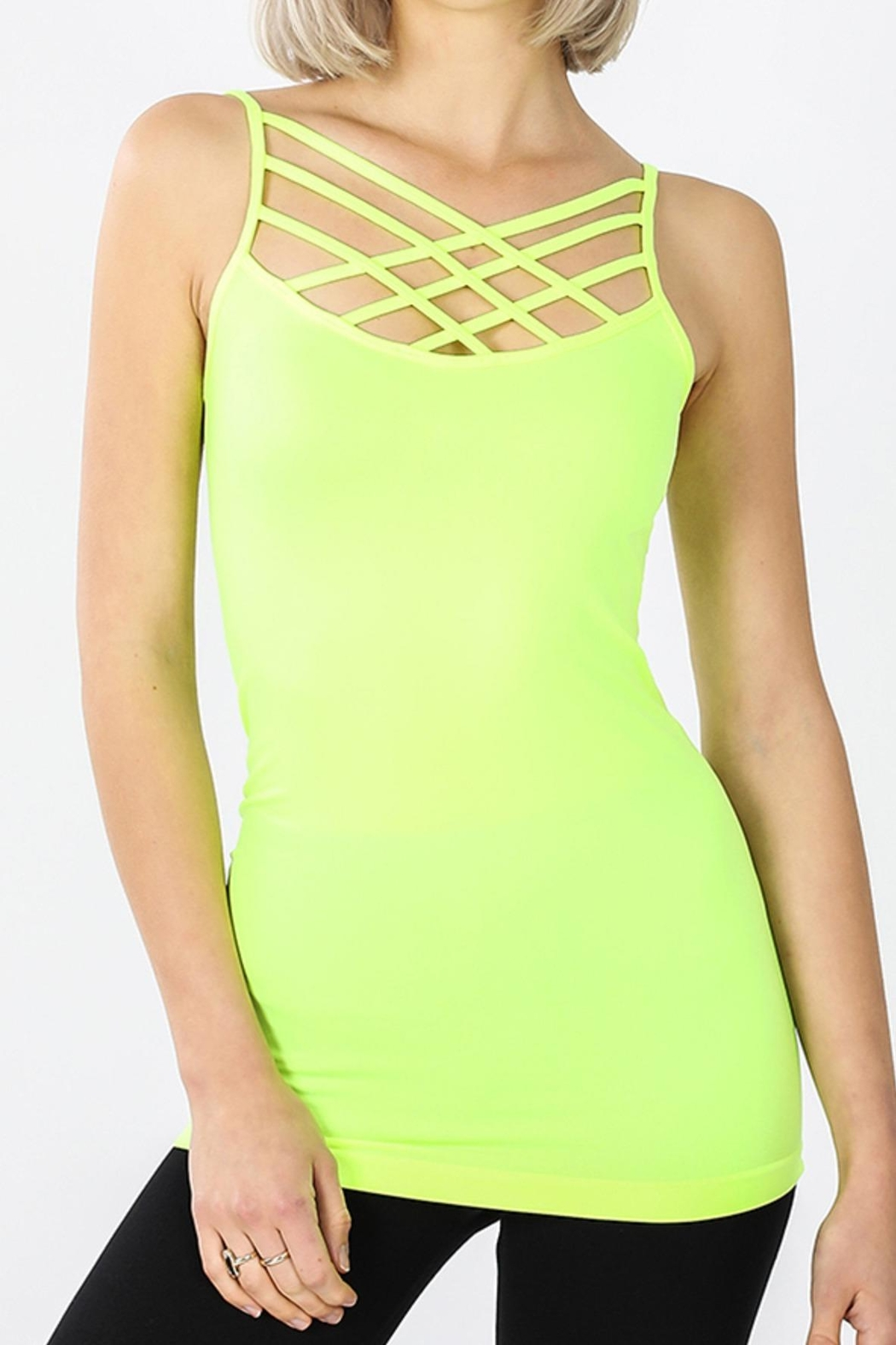 Zenana Outfitters Criss-Cross Tank Top - Front Cropped Image