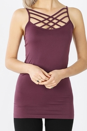 Zenana Outfitters Criss-Cross Tank Top - Front cropped
