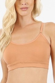Zenana Outfitters Cross Back Bralette - Front cropped