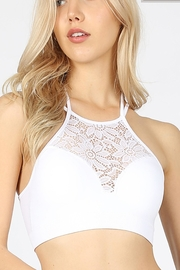 Zenana Outfitters High-Neck Lace Bralette - Product Mini Image