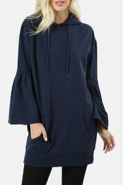 Zenana Outfitters Hooded Ruffle Sweater - Product Mini Image