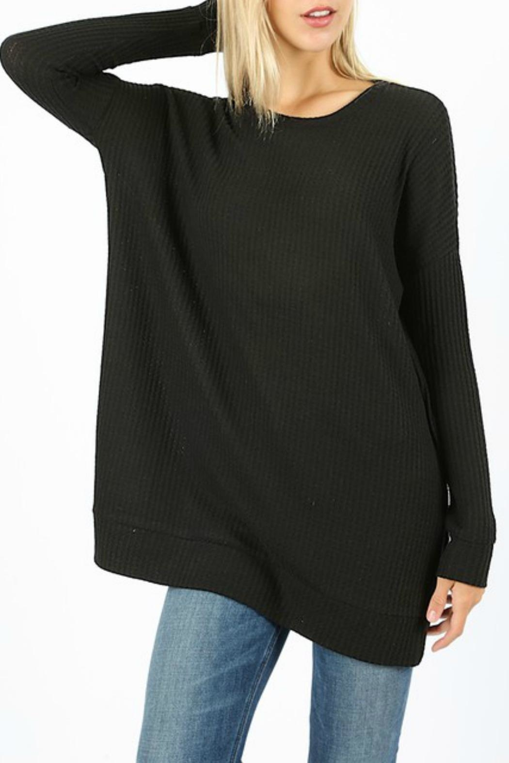 Zenana Outfitters Jannie Thermal Top - Front Cropped Image