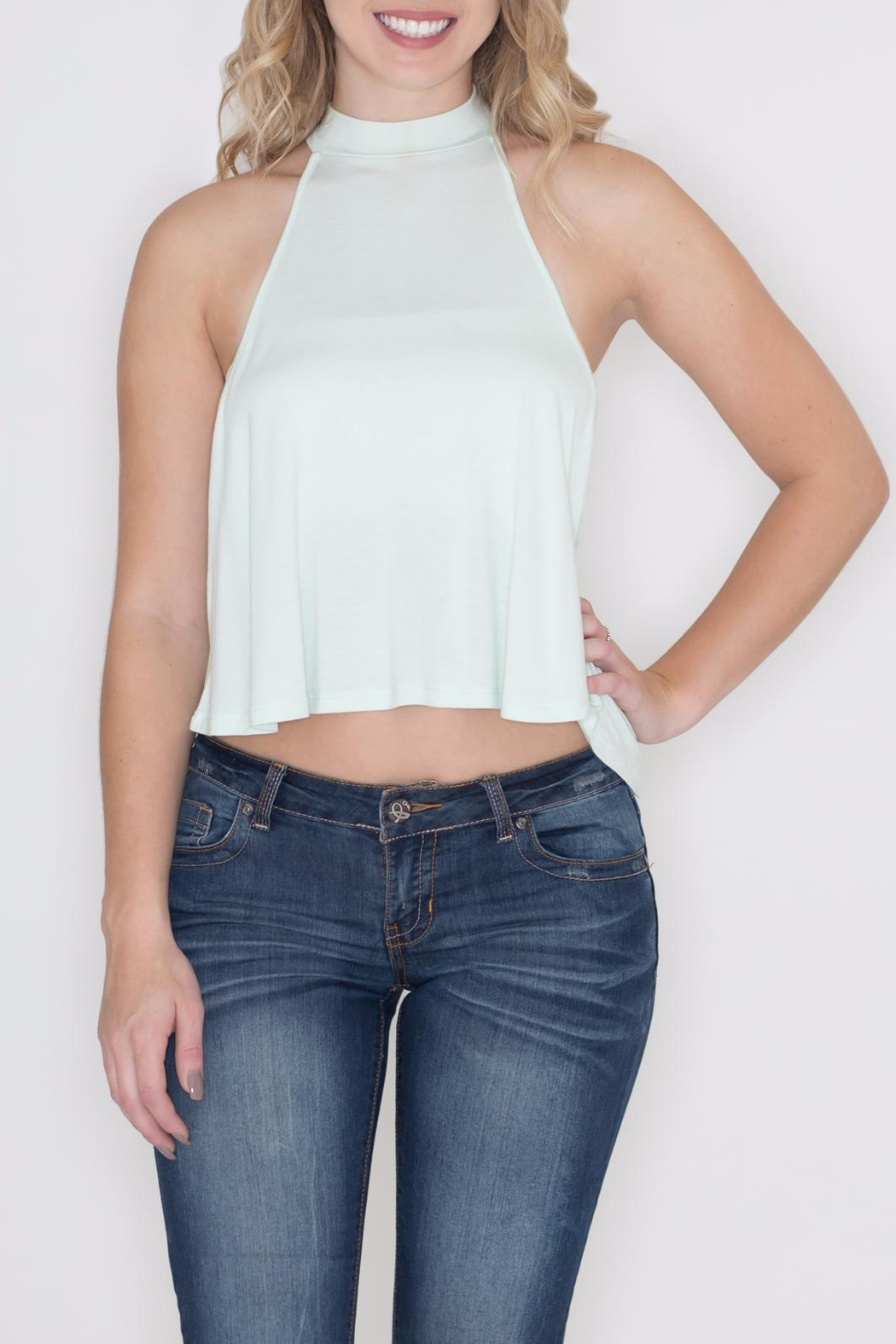 Zenana Outfitters Keyhole Crop Top - Main Image