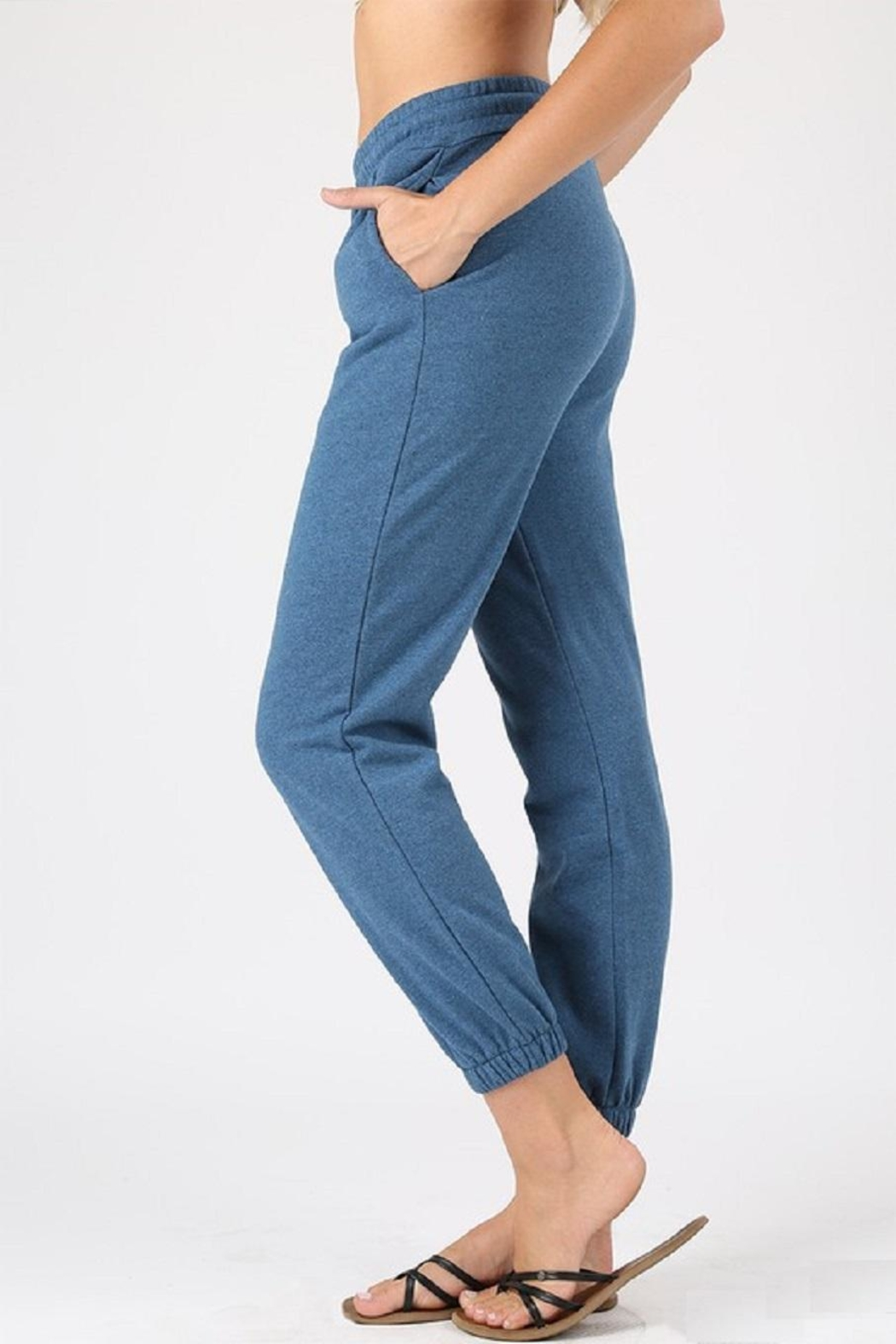 Zenana Outfitters Light-Weight Joggers - Front Cropped Image
