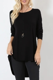 Zenana Outfitters Lindsay Black Tunic - Product Mini Image