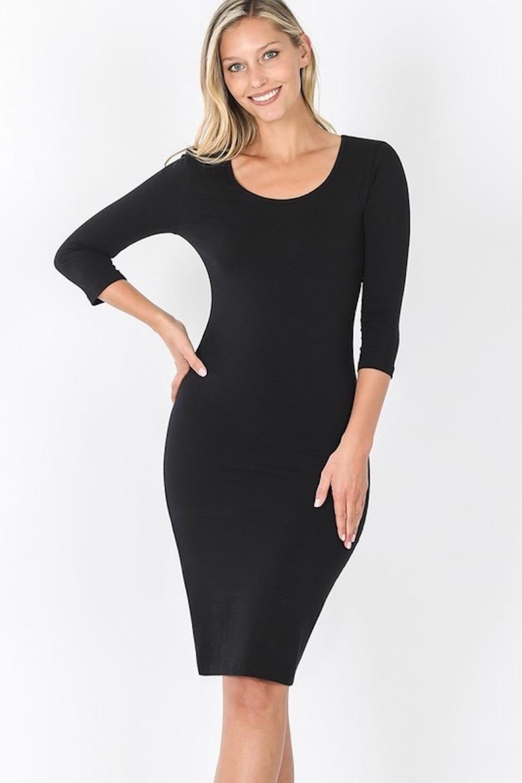Zenana Outfitters Little Black Must Have Dress - Main Image
