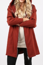 Zenana Outfitters Long Zip Hoodie - Front cropped