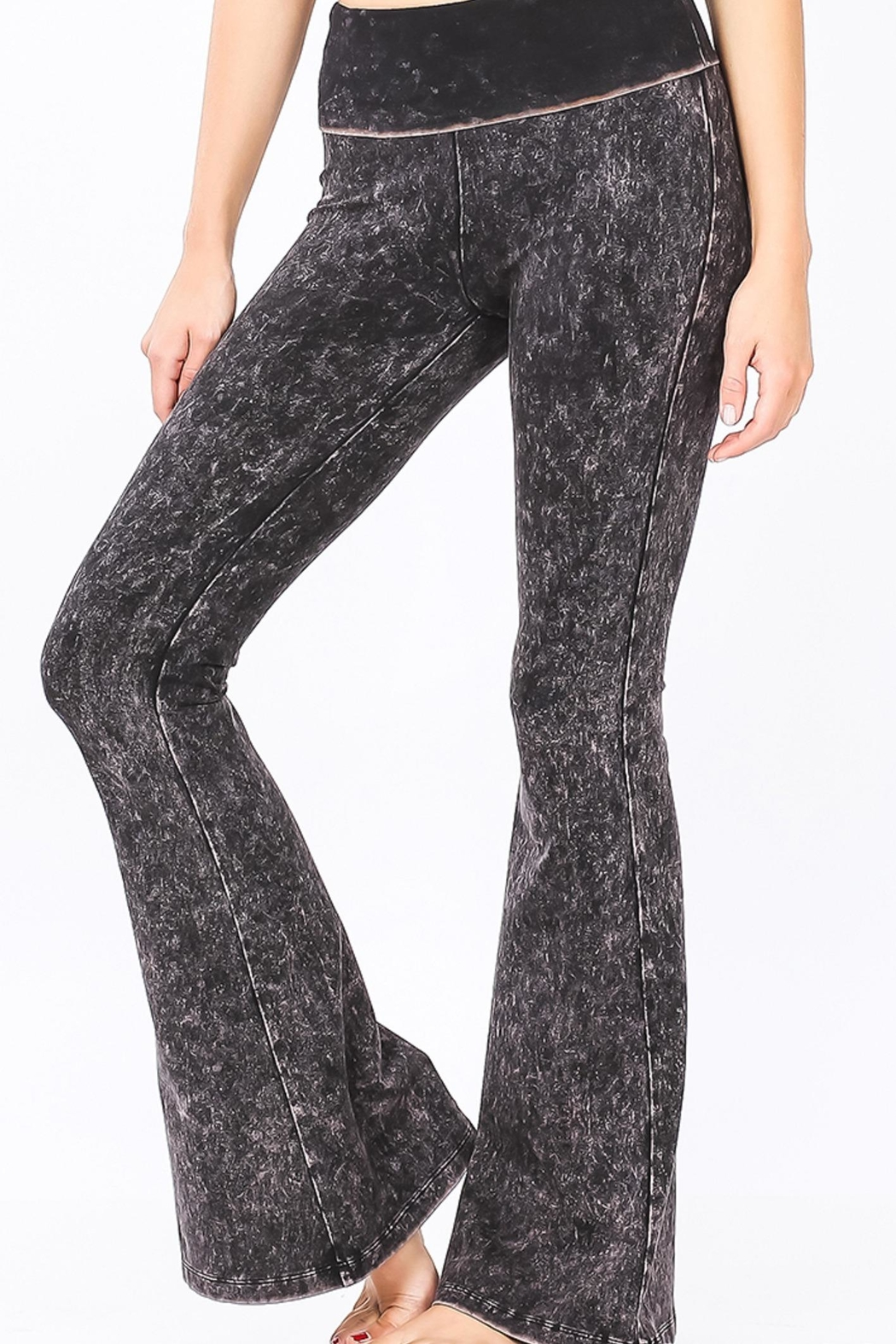 Zenana Outfitters Mineral Wash Pants - Front Full Image