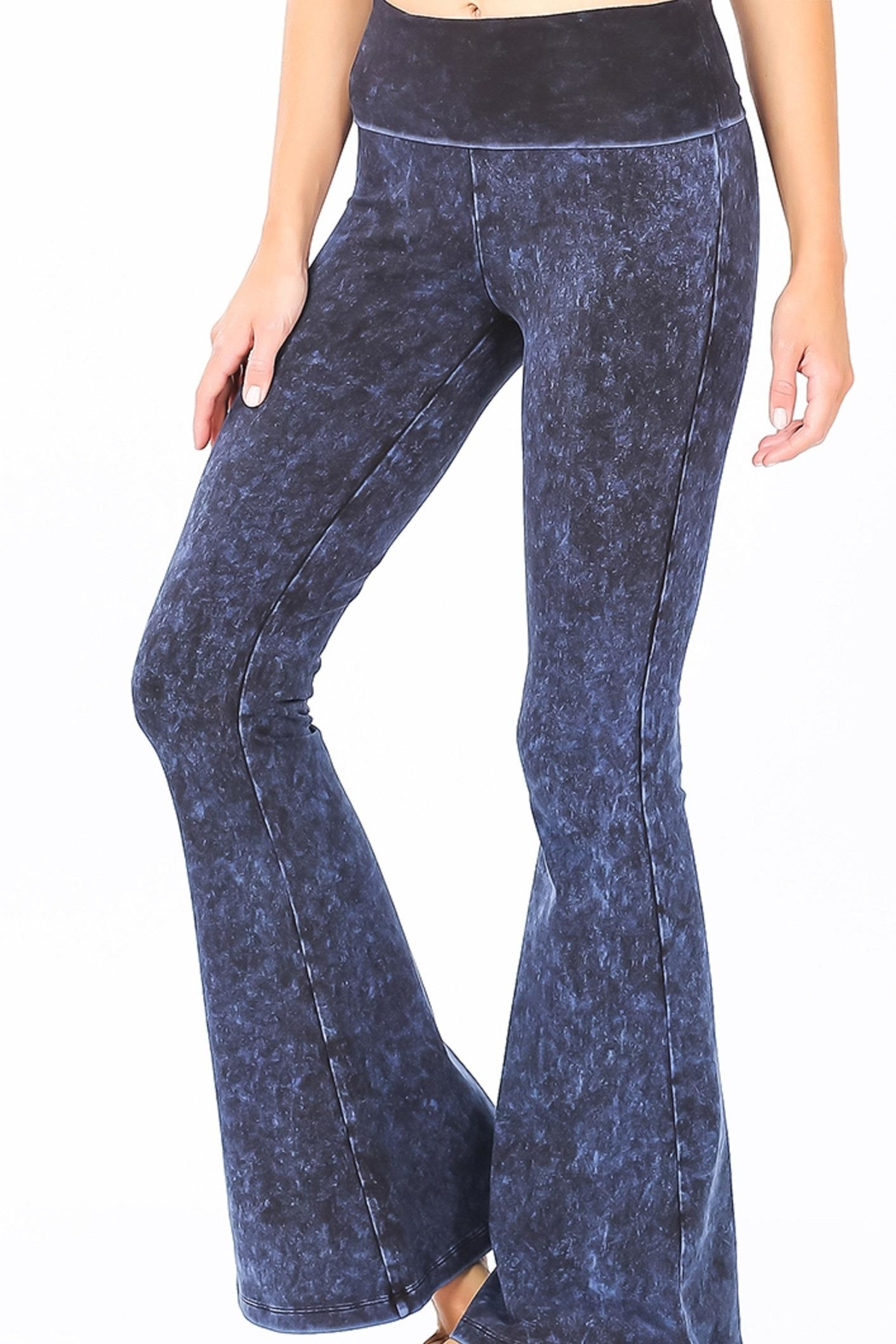 Zenana Outfitters Mineral Wash Pants - Front Cropped Image