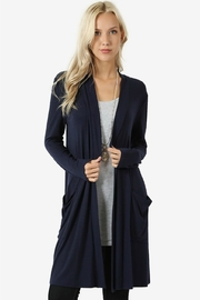 Zenana Outfitters Navy Cardigan - Product Mini Image
