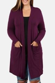 Zenana Outfitters Plum Cardigan - Product Mini Image