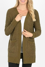 Zenana Outfitters Popcorm Cardigan - Front cropped