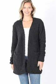 Zenana Outfitters Popcorn Pocket Cardigan - Front cropped
