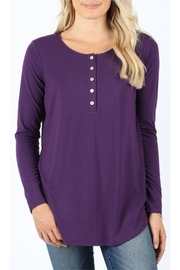 Zenana Outfitters Purple Long Sleeve - Product Mini Image