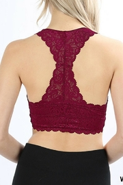 Zenana Outfitters Racerback Lace Bralette - Front full body