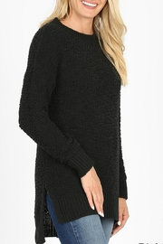 Zenana Outfitters Rachel Popcorn Sweater - Front cropped