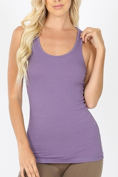 Zenana Outfitters Ribbed Racer-Back Tank - Alternate List Image