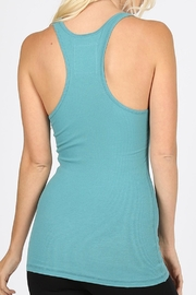 Zenana Outfitters Ribbed Racer-Back Tank - Front full body