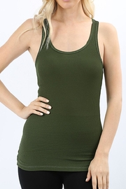 Zenana Outfitters Ribbed Racer-Back Tank - Front cropped