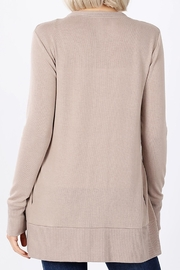 Zenana Outfitters Snap-Button Sweater Cardigan - Other